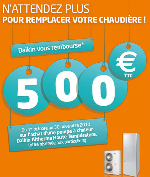 Offre de 500 euros sur l 39 achat d 39 une pac daikin altherma - Ikea offre 500 euros ...