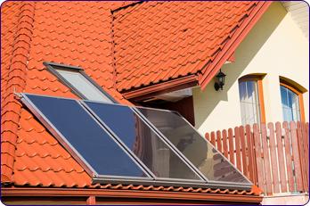 Toit panneaux solaires