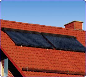 Panneaux solaires tubes