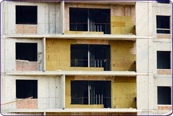 Pose d'isolation extérieure dans immeuble  à rénover