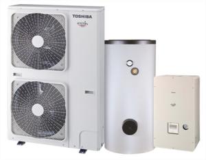 Pompe à chaleur double service produisant chauffage et eau chaude sanitaire