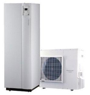 Pompe à chaleur basse température bibloc et double service