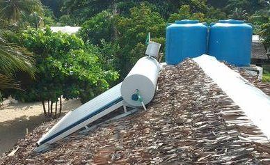 Chauffe eau sur le toit