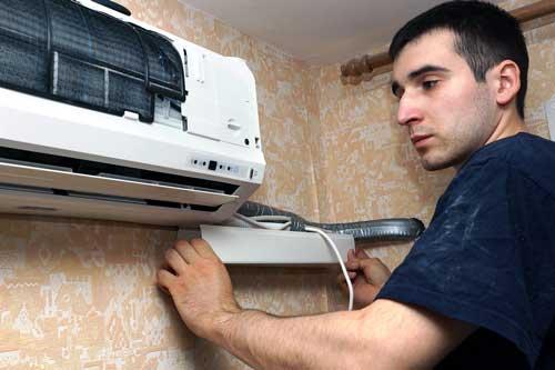 Installation d'un climatiseur
