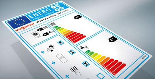 Etiquette énergétique d'un système de chauffage combiné avec en base une pompe à chaleur