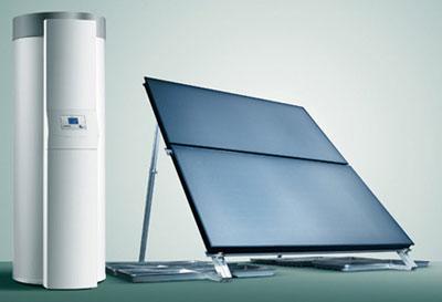 Exemple de chauffe-eau solaire individuel pour une maison ou pour un appartement