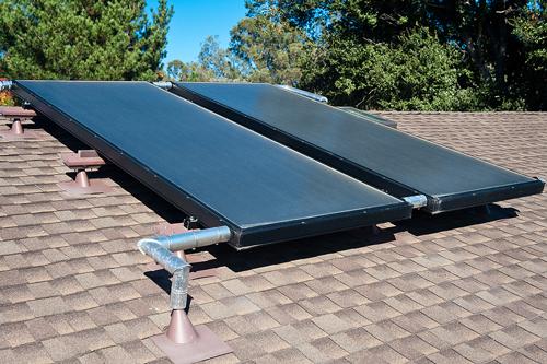 Installation solaire sur toit