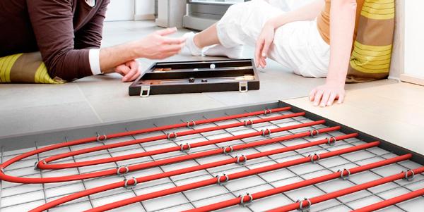 Le plancher chauffant couplé à la pompe à chaleur donne les meilleurs rendements  et meilleurs COP