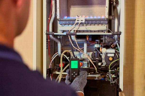 Contrôle de la chaudière au gaz condensation