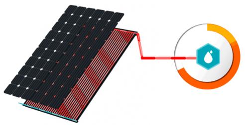 principe panneaux photovoltaïques hybrides