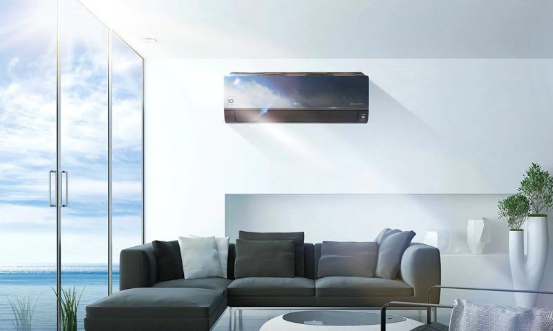 climatiseur mural réversible LG Artcool Mirror