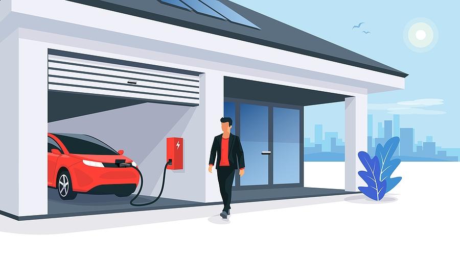 véhicule électrique solaire recharge