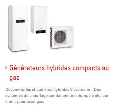Viessmann générateurs hybrides