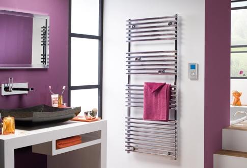 salle de bain avec chauffage électrique